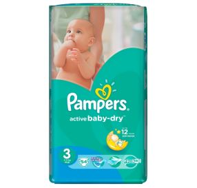 54 יח' pampers active baby 3