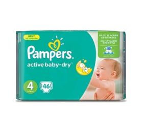 46 יח' pampers active baby 4