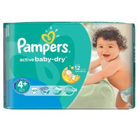 40 יח' pampers active baby 4 פלוס