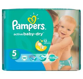 36 יח' pampers active baby 5