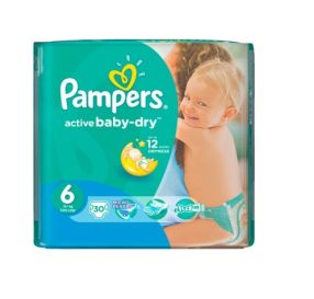 30 יח' pampers active baby 6