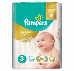 20יח' Pampers Premium Care 3