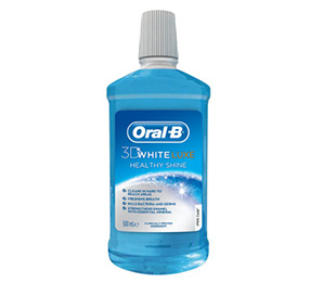 "Oral B 3D White Luxe מי פה להלבנה / 500 מ""ל"