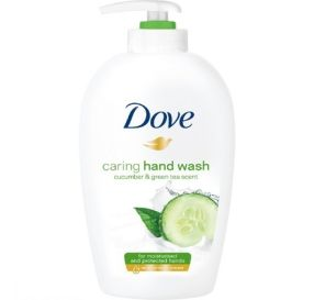 Dove caring hand wash דאב תחליב רחצה בניחוח מלפפון ותה ירוק 250 מ''ל