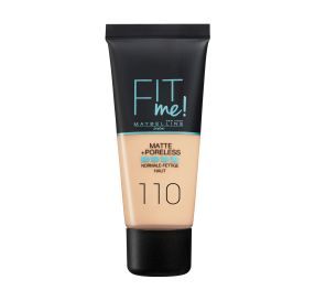 Fit Me Matte And Poreless מייק אפ נוזלי בגימור מאט גוון 110