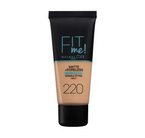Fit Me Matte And Poreless מייק אפ נוזלי בגימור מאט גוון 220