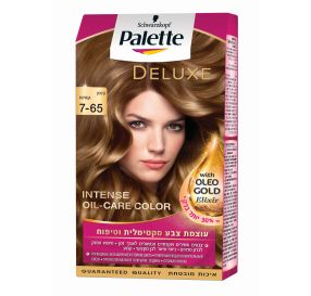 Palette Delux Intense Oil-Care Color צבע שיער קרם 7-65 קינמון