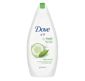 Dove Go Fresh דאב תחליב רחצה בניחוח מלפפון ותה ירוק / 500 מ