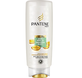 Pantene Pro V Smooth And Silky Conditioner מרכך למגע רך כמשי לשיער מקורזל 500 מ''ל
