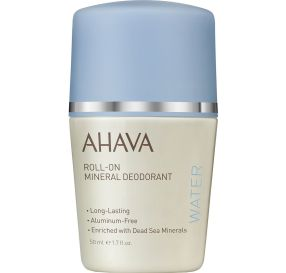 "AHAVA Deadsea Water Roll On Deodorant דאודורנט רול און מינרלי 50 מ""ל"