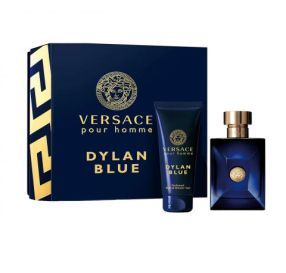 Versace Pour Homme Dylan Blue Travel Set סט לגבר בושם וג'ל רחצה לגוף ולשיער
