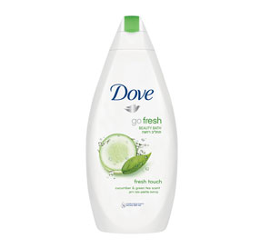 Dove Go Fresh דאב תחליב רחצה בניחוח מלפפון ותה ירוק / 750 מ