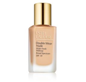 Estee Lauder Double Wear Nude Makeup SPF 30 מייק אפ למראה רענן בגוון Pebble 3C2
