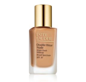 Estee Lauder Double Wear Nude Makeup SPF 30 מייק אפ למראה רענן בגוון Spiced Sand 4N2