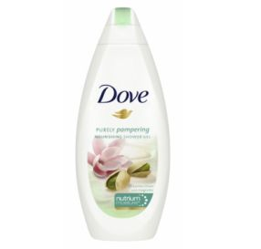 Dove Purely Pampering תחליב רחצה קרם פיסטוק ומגנוליה 500 מל