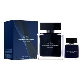 Narciso Rodriguez Bleu Noir EDT For Him Set סט לגבר הכולל בושם 100 מ''ל ובושם 10 מ''ל