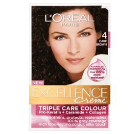 L'Oreal Excellence Cream צבע חום כהה 4