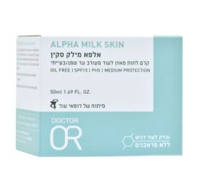DR.OR ALPHA MILK SKIN קרם לחות מאזן / 50 מ